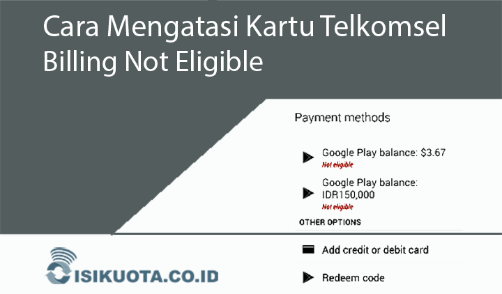 Kartu Telkomsel Billing Not Eligible